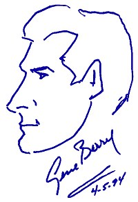 Original portrait sketch by Gene Barry