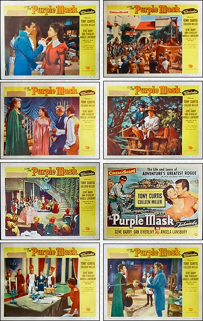 The Purple Mask lobby cards