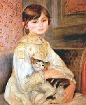 Renoir - Julie Manet with Cat