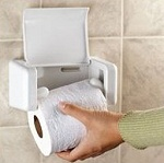 EZ-Load                         Toilet Paper Holder with flap